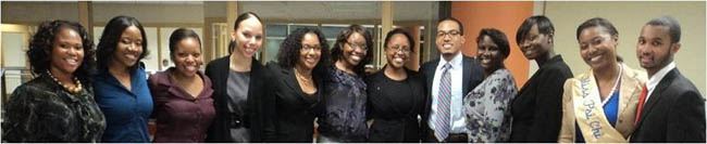 Psi Chi student officers attend the end-of-year dinner