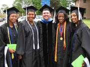 Psychology students and faculty at graduation