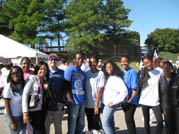 Members of Psychology Club participate in Making Strides                                      Against Breast Cancer benefit walk in Norfolk, Virginia