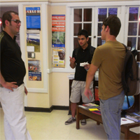 Da esquerda para a direita: Juan, Paulo e Tomás