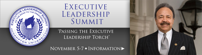 Hampton University Executive Leadership Summit, November 5-7, 2014 - Click for more information.