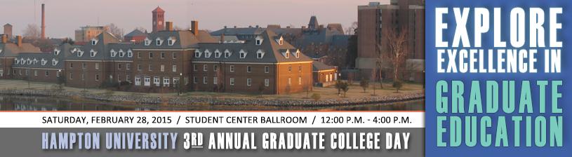 3rd Annual Graduate College Day
