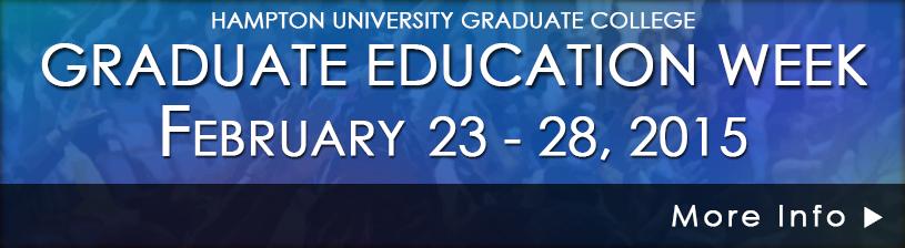 Graduate Education Week