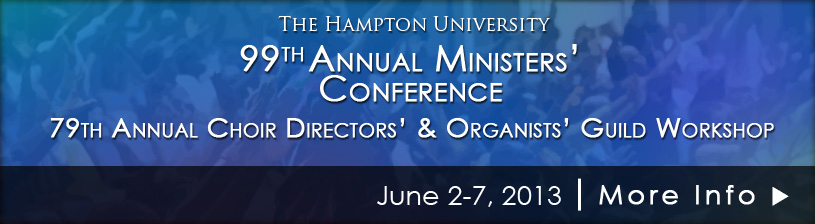 HU Ministers' Conference - June 2-7, 2013 - Click for more information.