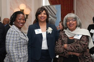 Dr. Pamela Hammond, Dr. Zina Mcgee, and her mother, Mrs. Glenda McGee, at the SCHEV Outstanding Faculty Award Reception.