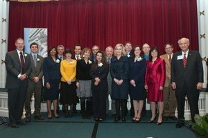 Dr. Zina McGee and the other award recipients at the SCHEV Outstanding Faculty Award Luncheon.
