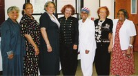 Ms. Laverne Sci, Director, and Volunteers (Dunbareans). L-R: Mary Johnson, Willa Bronston, Benette DeCoux, Laverne Sci, Lucille Morrow, Delores Henderson and Frances Moore