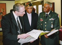L-R: Judge Walter Rice, Bennie McRae and Colonel John Mitchell