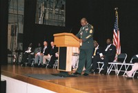 Sgt. Major James O. Bowman, keynote speaker at Memorial Day 2008 observance in Vicksburg.