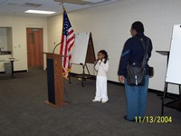 Pledge of  Allegiance ----- Ms. Kennedy J. Townsend -- 1st Grader, Lakeview Design Learning Center, Nashville, Tennessee