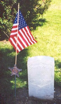 John Taylor, 116th United States Colored Infantry Regiment, ancestor of Stephen Jackson, a member of the 2001/02 Research History Class.
