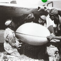 T/Sgt. Haynes, S/Sgt. Sheppard,  and M/Sgt. Bradley - Ramitelli Aerodrome, Termoli, Italy - 1944