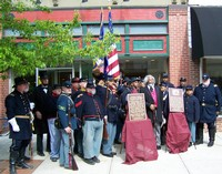 Dedication of Wall Plaque Honoring Civil War Troops Trained at Camp Delaware 'Camp Delaware' USCT Commemoration
