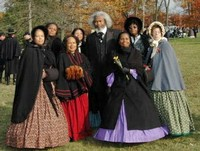 Frederick Douglass and Members of FREED  (FEMALE RE-ENACTORS OF DISTINCTION)