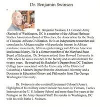 Speaker: Dr. Benjamin Swinson
