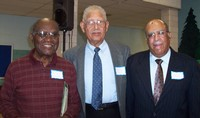 WWII Veterans Jonas Bender, George Ellis and Korean War Veteran Bennie McRae
