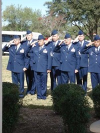 Chief Master Sergeant Dwayne Hopkins and Sergeants from Lackland Air Force Base