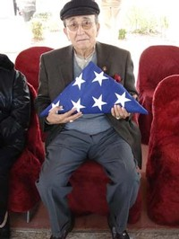 Flag presented to Grandson Armando Aguirre