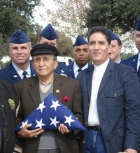 Chief Master Sergeant Dwayne Hopkins, Armando Aguirre, Michael Aguirre and Sergeants from Lackland Air Force Base