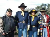 Richard Naateh Luna, Lieutenant Earley Teal, First Sergeant Howard Ray and Steve Zavala