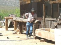 Ed Keeylocko, owner of the Cowtown Keeylocko town and range.