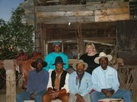 Cowboys and Girls, standing - L-R: Elaine Dorty and Sharon Heist. Seated - L-R:  Linus, Hinton, Tony Dorty, George Taylor and Bobby Boone, son of Ed Keeylocko and Cowboy extraordinaire.