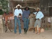 BOBBY, LINUS AND GEORGE, STRIKE THE 'COWBOY' POSE