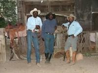 BOBBY, LINUS AND GEORGE, STRIKE THE 'COWBOY' POSE