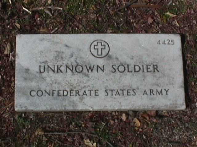 Unknown Soldier Grave Marker - 4425