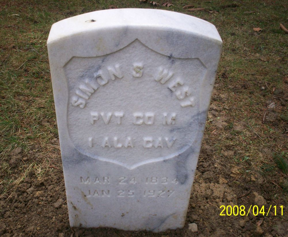 Simon S. West Grave Marker