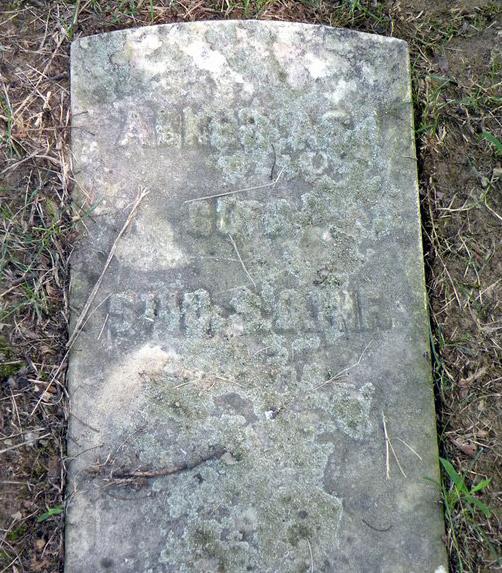 Abner Ash's Grave Marker