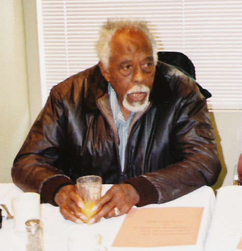 Sergeant Milton Graham attending the reunion of the Association of the  '2,221 Negro Volunteers World War II' held at Clanton, Alabama, November 7 thru 11, 2003. (Photo by Bennie McRae)