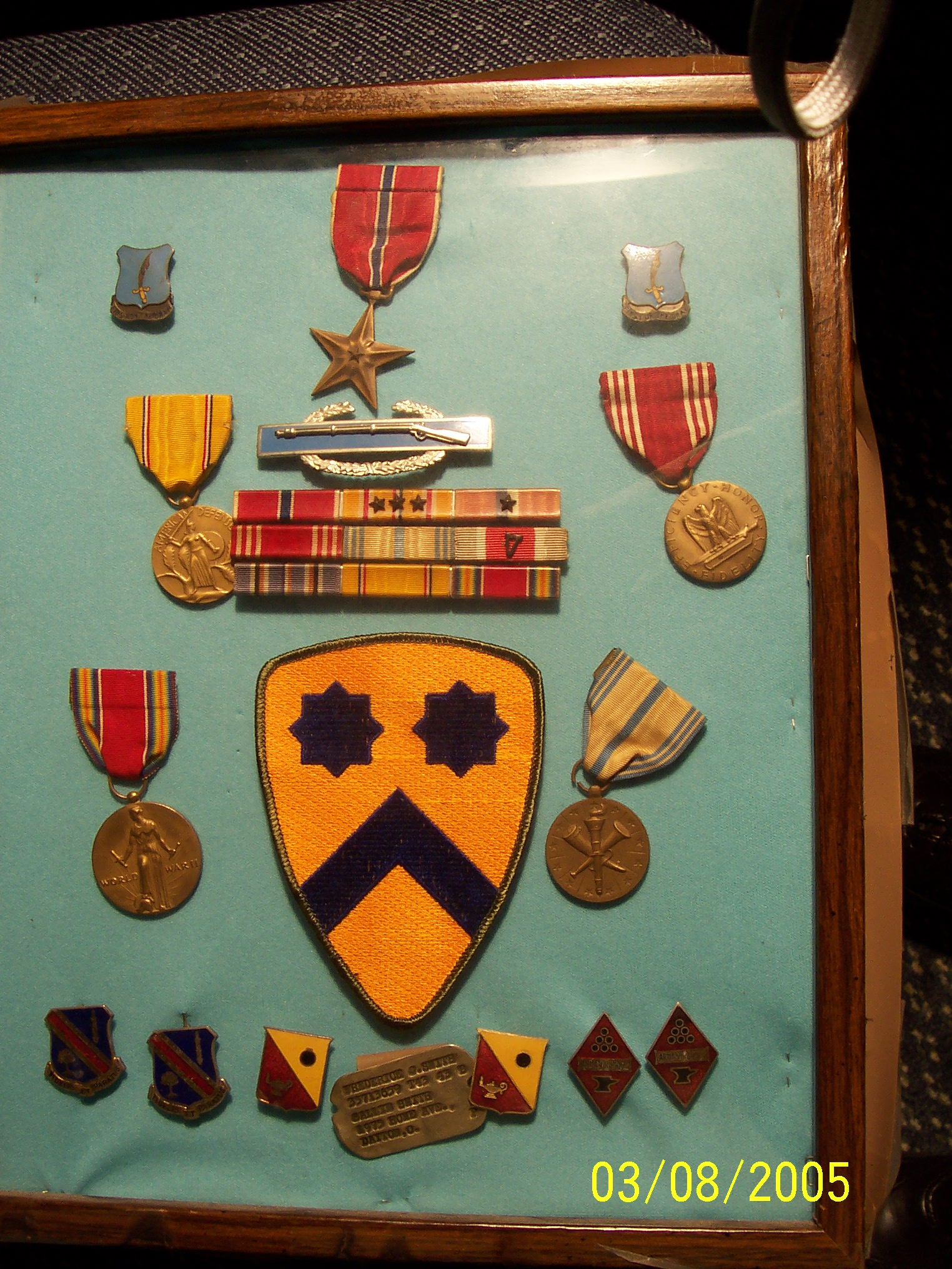 Frederick Smith's Medals,  Dogtags and Unit Patch
