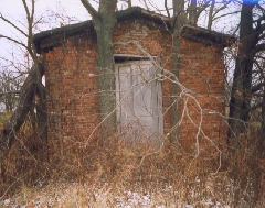 Front View of Brick Smokehouse (photo by Joanne Caputo)