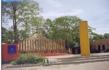 Outside of Museo de Culturas Afromestizas Cuajinicuilapa, Guerrero, Mexico