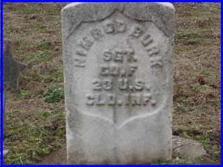 Nimrod Burke Grave Marker