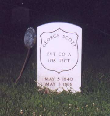 George Scott, aka George Phillips Grave Marker