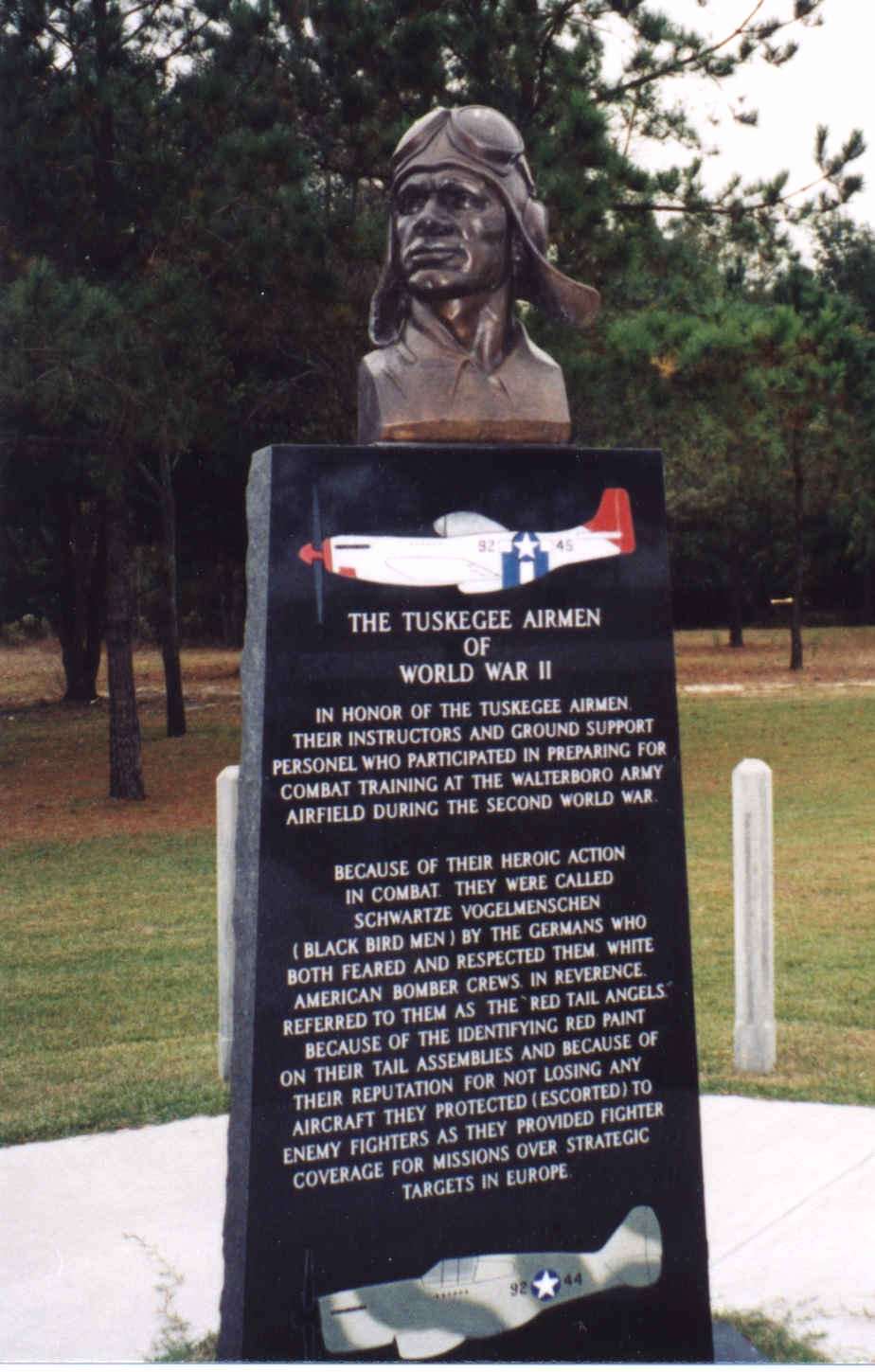 Tuskegee Airman Memorial Monument - Photo Courtesy: Jerry R. McRae, Tuskegee, Alabama