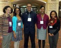 First cohort of MARC Scholars at the ABRCMS meeting in November 2014 in San Antonio, Texas with Dr. Cecile Andraos-Selim.