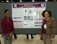 Dr. Cecile Andraos-Selim and Courtney Edwards next to Ms. Edwards' poster at the ABRCMS meeting in November 2014.