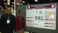 Myron Gibert and Courtney Edwards next to Ms. Edwards' poster at the ABRCMS meeting in November 2014.