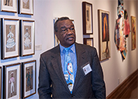 Dr. David Driskell speaking during the Curator's Tea