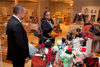 Dr. Sheppard and Dr. Locke shopping during the Holiday Marketplace