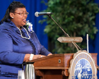 HU Alumni Association President Gives Founder's Day Address