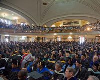 Students and faculty packed Ogden Hall for the HU Opening Convocation.