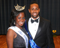 Miss Hampton University 2012-2013 Moriah Lark and Mr. Pirate 2012- 2013 Corinthian Tyson