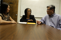 Dr. Chutima Boonthum, Dr. Jean Muhammad and Dr. Yen-Hung Hu serve as directors and professors in the Information Assurance Center at HU.