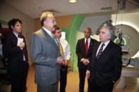 Dr. Harvey, Sec. Moniz and Congressman Robert 'Bobby' Scott tour HUPTI.