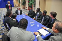 Sec. Moniz spoke with STEM majors about the importance of science and technology as an economic driver.