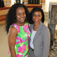 Abrianna Anderson stands with Dr. Ziette Hayes